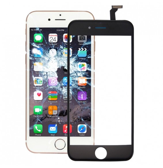Touch Panel with Front LCD Screen Bezel Frame & OCA Optically Clear Adhesive for iPhone 6 (Black)
