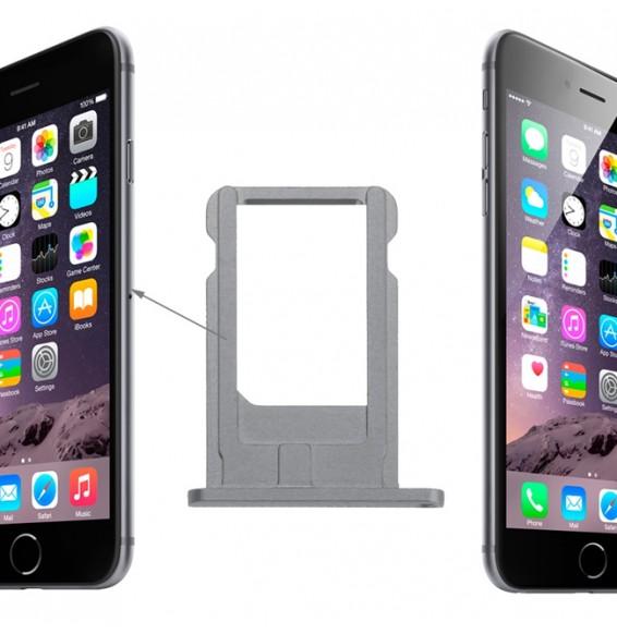 Tiroir SIM pour iPhone 6 (Gris)