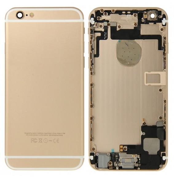 Vormontiert Komplett Gehäuse für iPhone 6 (Gold)(Mit Logo)