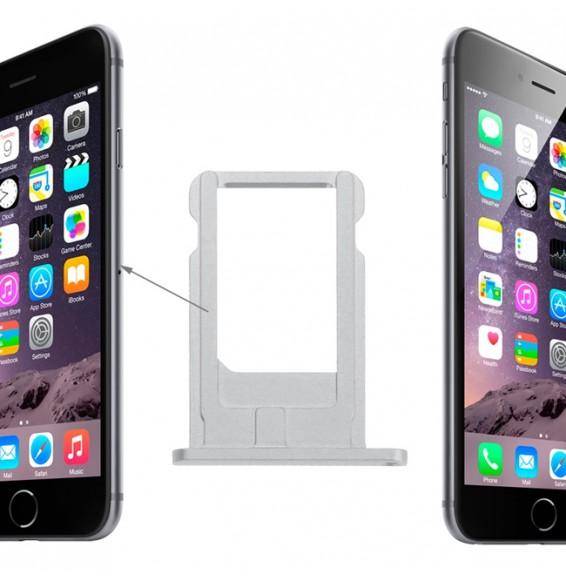 SIMkartenhalter Fach für iPhone 6 (Silber)