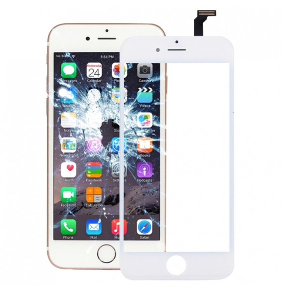 Touch Panel with Frame & Adhesive for iPhone 6 (White)