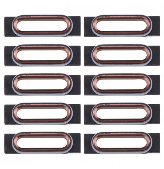 10pcs pour iPhone 7 support fixation connecteur de charge (Rose gold)