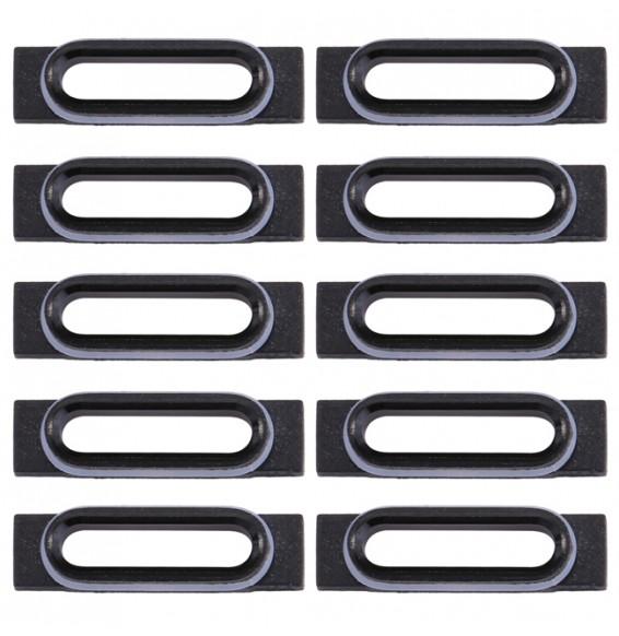 10pcs pour iPhone 7 support fixation connecteur de charge (Noir)
