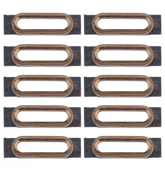 10pcs pour iPhone 7 support fixation connecteur de charge (Gold)