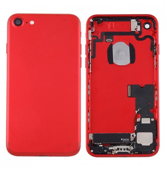 Vormontiert Komplett Gehäuse für iPhone 7 (rot)(Mit Logo)