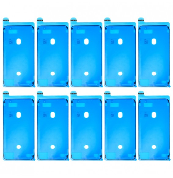 10pcs LCD Frame Bezel Waterproof Adhesive Stickers for iPhone 8 Plus (Black)