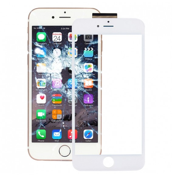 for iPhone 6s Plus Touch Panel with Frame & Adhesive(White)