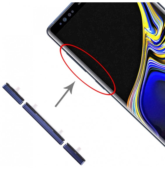 10 Set Side Keys for Galaxy Note 9 (Blue)