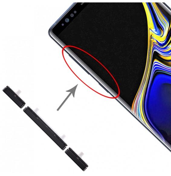 10 Set Side Keys for Galaxy Note 9 (Black)