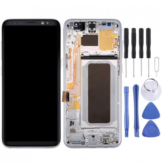 Écran LCD complet (Original) avec châssis pour Galaxy S8+ / G955 / G955F / G955FD / G955U / G955A / G955P / G955T / G955V / G955R4 / G955W / G9550 (argent)