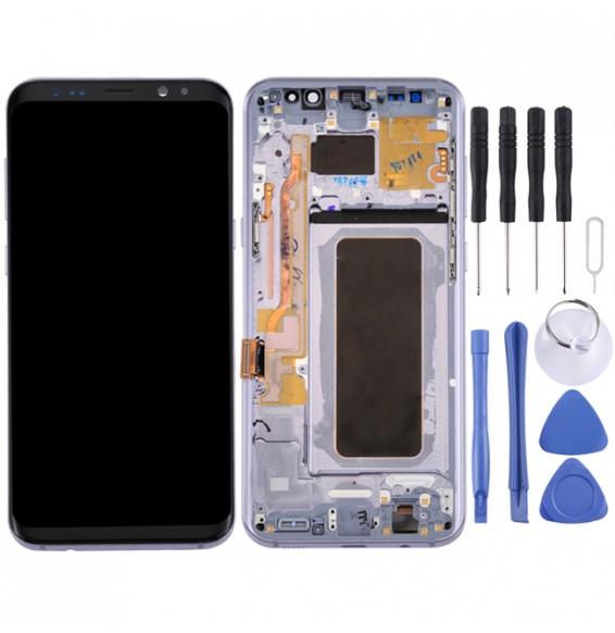 Écran LCD original avec châssis pour Samsung Galaxy S8+ SM-G955 (Gris)