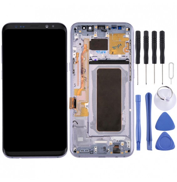 Original LCD Screen with Frame for Samsung Galaxy S8+ SM-G955 (Grey)
