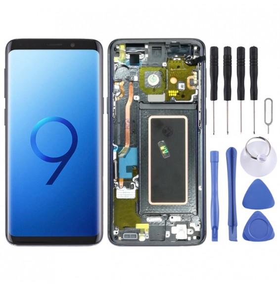 LCD Bildschirm mit Rahmen für Galaxy S9 / G960F / G960F/DS / G960U / G960W / G9600 (Grau)