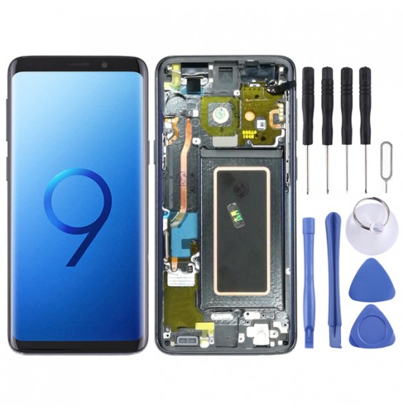 LCD Screen and Digitizer Full Assembly with Frame for Galaxy S9 / G960F / G960F / DS / G960U / G960W / G9600(Grey)