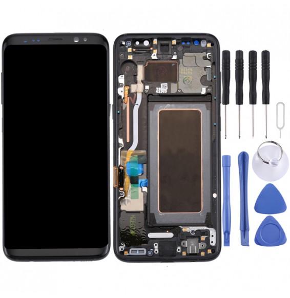 Écran LCD original avec châssis pour Samsung Galaxy S8 SM-G950 (Noir)