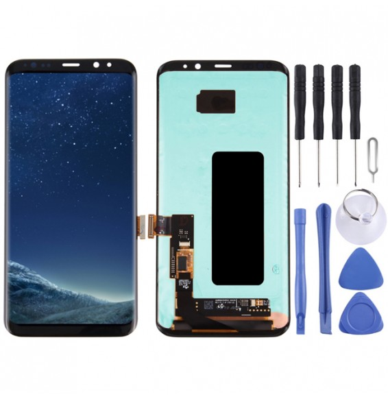 Original LCD Display + Touch Panel for Galaxy S8+ / G955 / G955F / G955FD / G955U / G955A / G955P / G955T / G955V / G955R4 / G955W / G9550(Black)