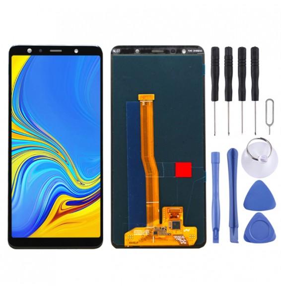 LCD Bildschirm für Galaxy A7 (2018), A750F/DS (schwarz)