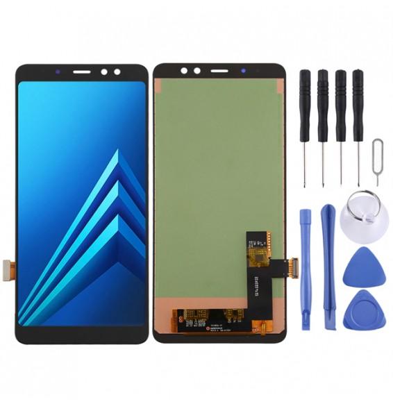 Écran LCD complet pour Galaxy A8+ (2018) SM-A730F (noir)