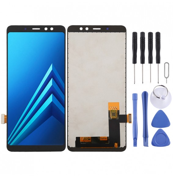 incell LCD Screen and Digitizer Full Assembly (Half Screen) for Galaxy A8+ (2018) A730F, A730F/DS(Black)