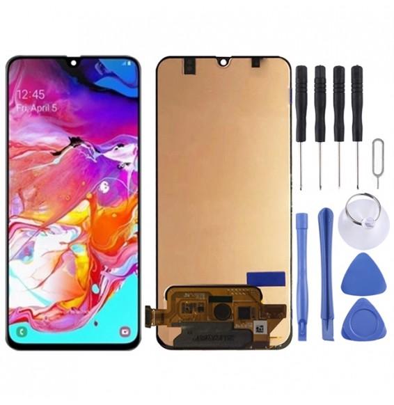 Écran LCD complet pour Galaxy A70, M-A705F/DS, SM-A705FN/DS, SM-A705GM / DS, SM-A705MN / DS, SM-A7050 (noir)