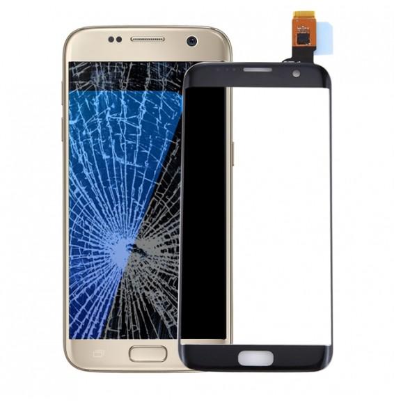 Touchscreen-Glas für Galaxy S7 Edge / G9350 / G935F / G935A (schwarz)