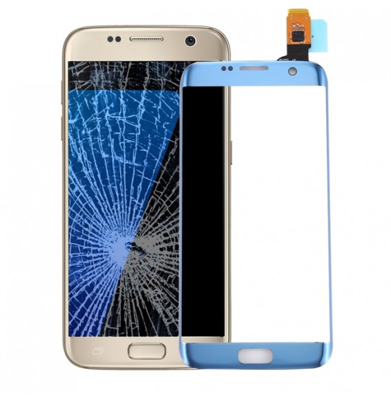 Vitre tactile pour Samsung Galaxy S7 Edge SM-G935 (Bleu)