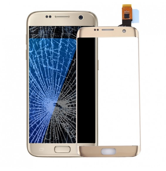 Vitre tactile pour Samsung Galaxy S7 Edge SM-G935 (Or)