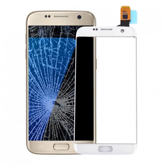 Touchscreen-Glas für Galaxy S7 Edge / G9350 / G935F / G935A (weiß)