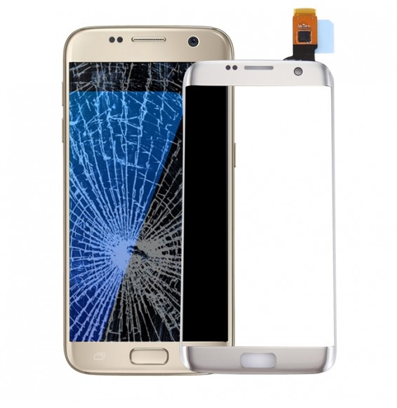 Vitre écran tactile pour Galaxy S7 Edge / G9350 / G935F / G935A (argent)