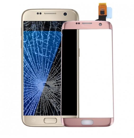 Vitre écran tactile pour Galaxy S7 Edge / G9350 / G935F / G935A (or rose)