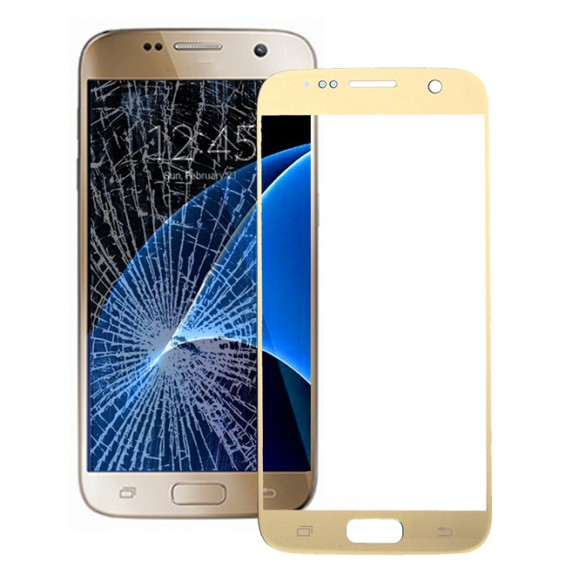 Front Screen Outer Glass Lens for Galaxy S7 / G930(Gold)