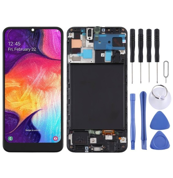 TFT LCD Screen with Frame for Galaxy A50 SM-A505F (Black)