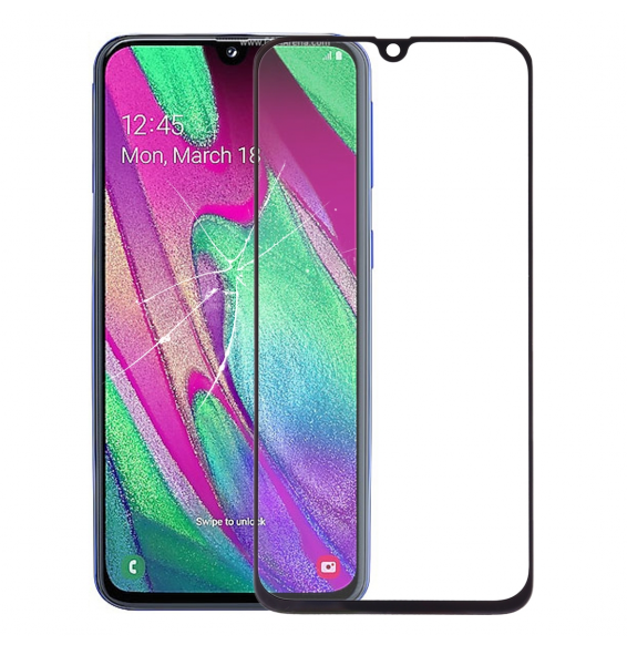 Outer Glass Lens for Galaxy A40 (Black)