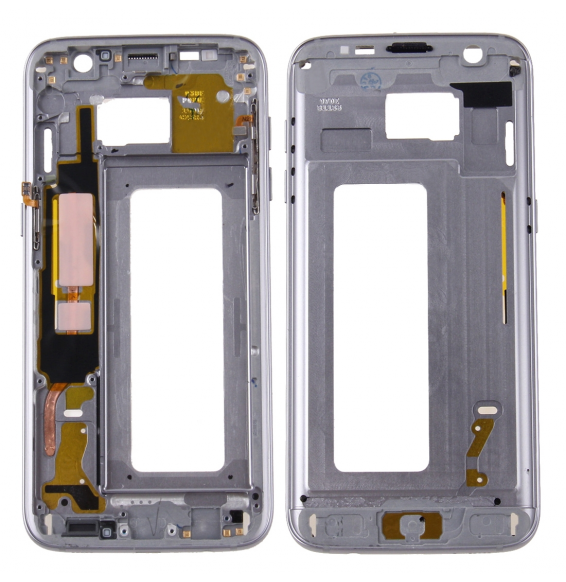 Front Housing LCD Frame Bezel Plate for Galaxy S7 Edge / G935(Grey)