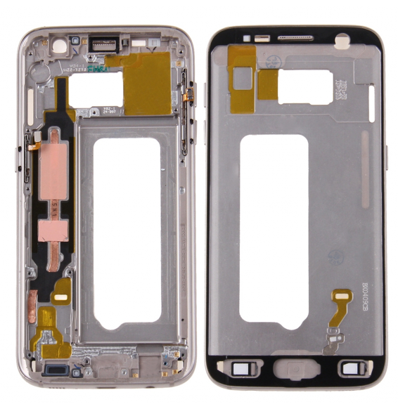 Front Housing LCD Frame Bezel Plate for Galaxy S7 / G930(Gold)