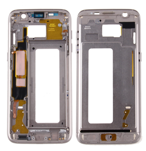 Front Housing LCD Frame Bezel Plate for Galaxy S7 Edge / G935(Gold)