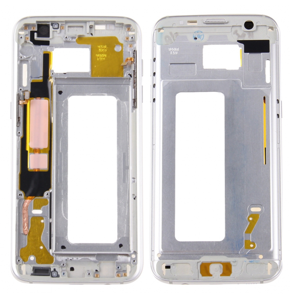 LCD Frame for Galaxy S7 Edge / G935 (Silver)