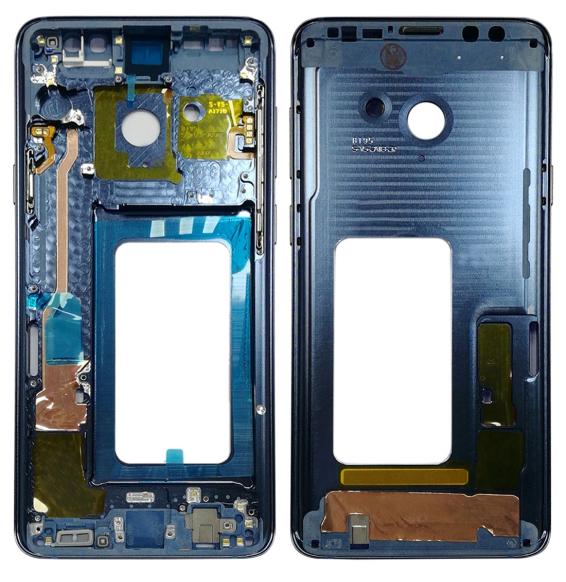 Middle Frame Bezel for Galaxy S9+ G965F, G965F/DS, G965U, G965W, G9650 (Blue)
