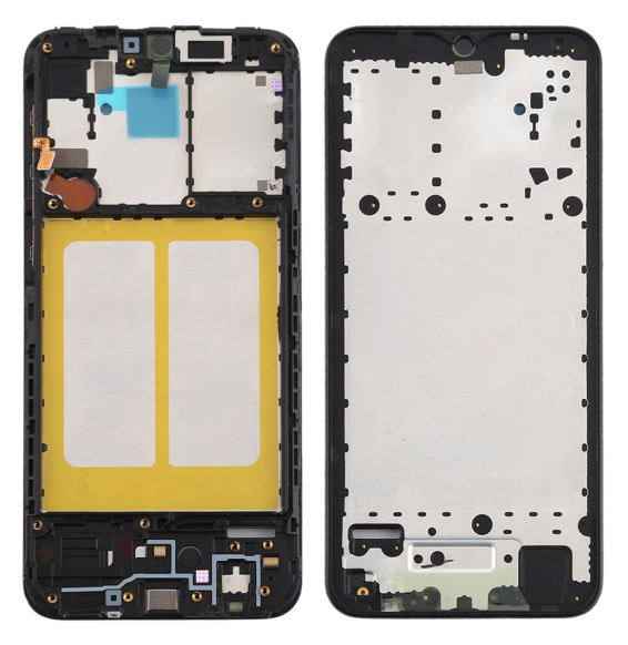 Front Housing LCD Frame Bezel Plate for Galaxy A20e (Black)