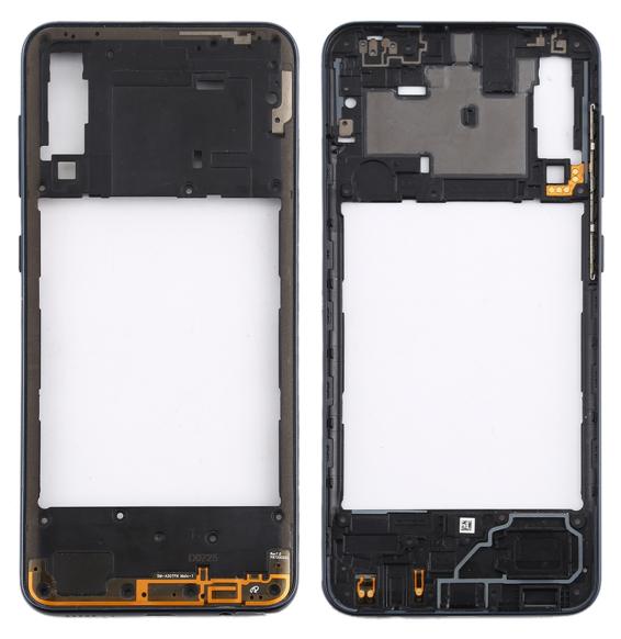 Back Housing Frame with side keys for Samsung Galaxy A30s SM-A307F (Black)