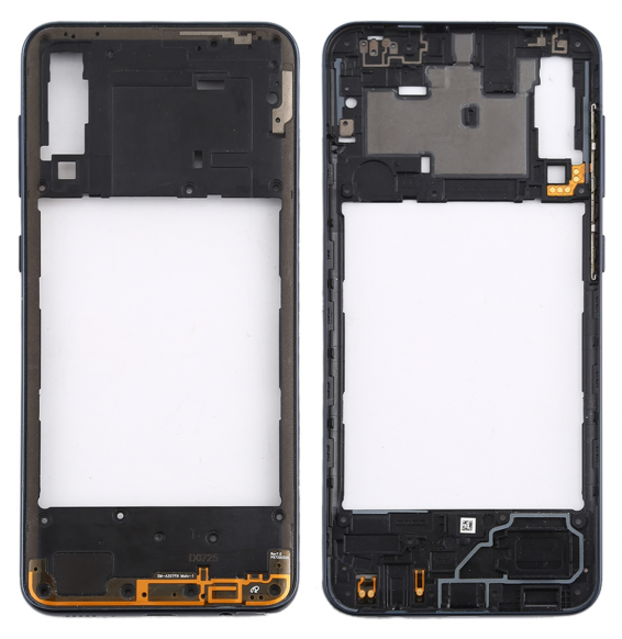 Rear Housing Frame with Side Keys for Galaxy A30s (Black)