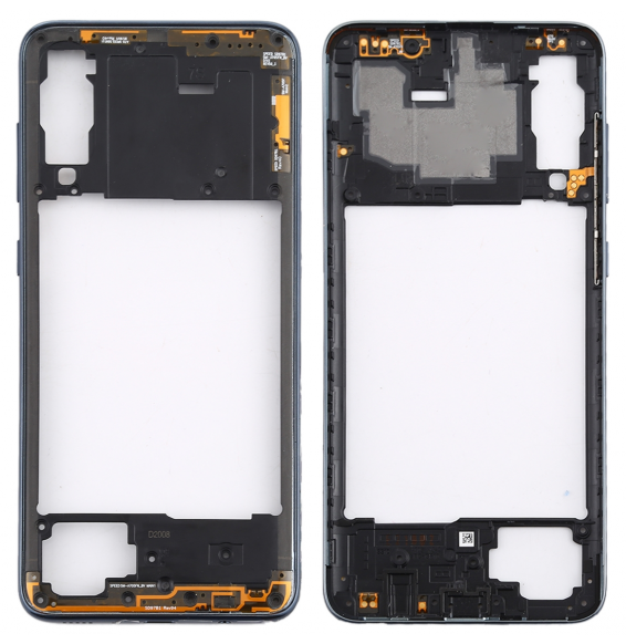 Rear Housing Frame with Side Keys for Galaxy A70S (Black)