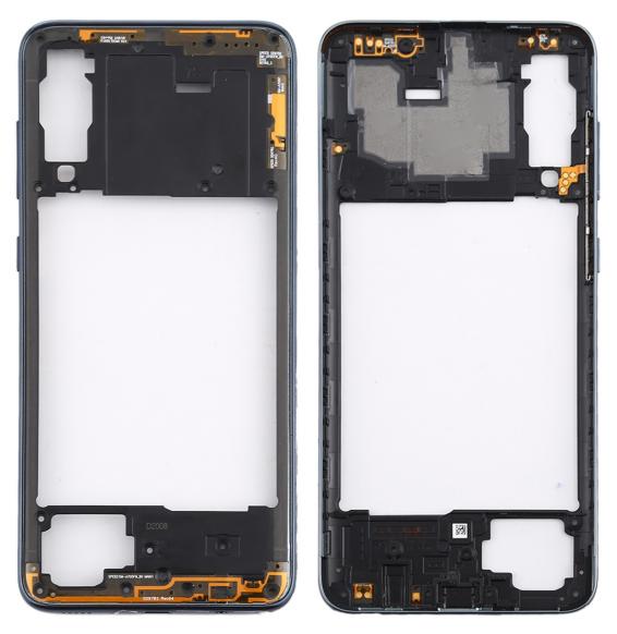 Rear Housing Frame with Side Keys for Samsung Galaxy A70S SM-A707 (Black)