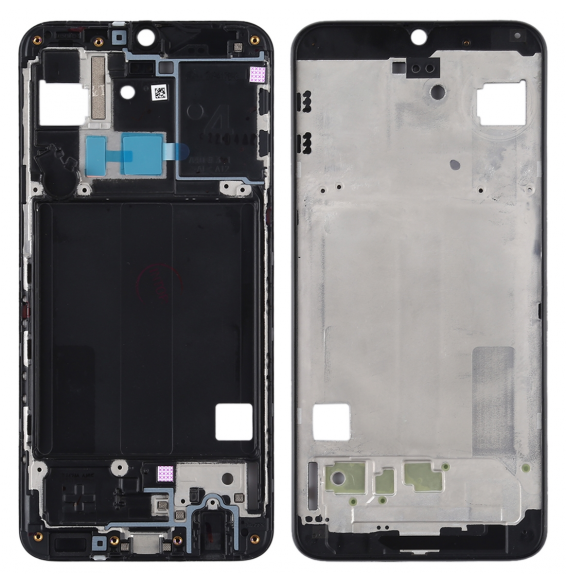 Front Housing LCD Frame Bezel Plate for Galaxy A40 (Black)