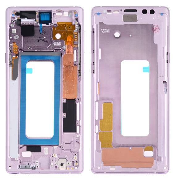 Châssis avec touches latérales pour Samsung Galaxy Note 9 SM-N960F/DS, SM-N960U, SM-N9600/DS (violet)