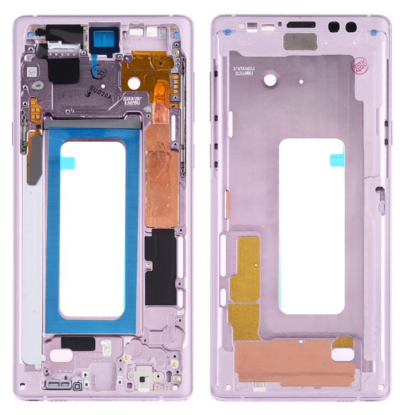Middle Frame Bezel Plate with Side Keys for Samsung Galaxy Note 9 SM-N960F/DS, SM-N960U, SM-N9600/DS (Purple)