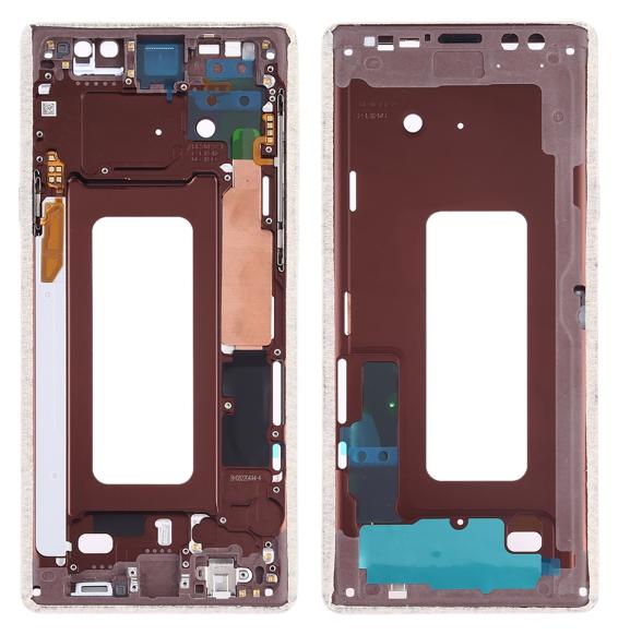 Fahrgestell mit Seitentasten für Samsung Galaxy Note 9 SM-N960F/DS, SM-N960U, SM-N9600 / DS (Gold)