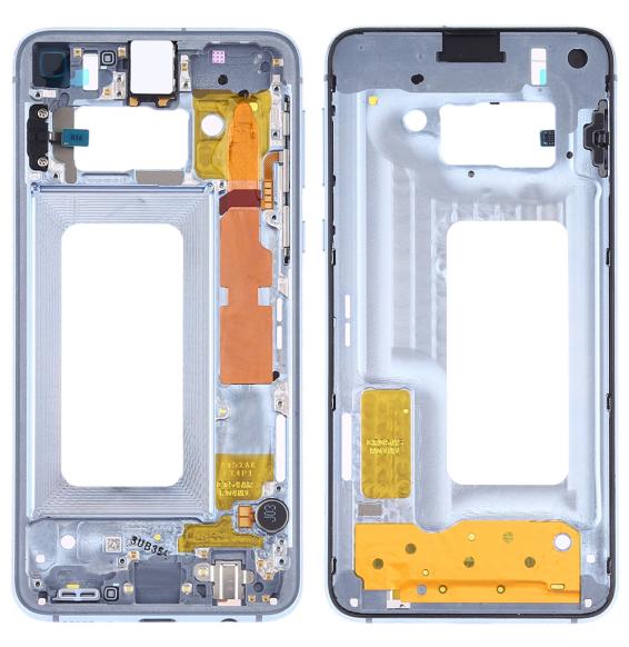Middle Frame Bezel Plate with Side Keys for Samsung Galaxy S10e SM-G970F/DS, SM-G970U, SM-G970W (Blue)