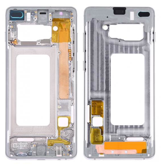 Middle Frame Bezel Plate with Side Keys for Samsung Galaxy S10+ (Silver)