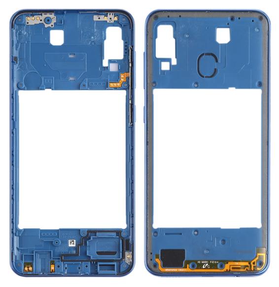 Châssis arrière pour Samsung Galaxy A30 SM-A305 (Bleu)